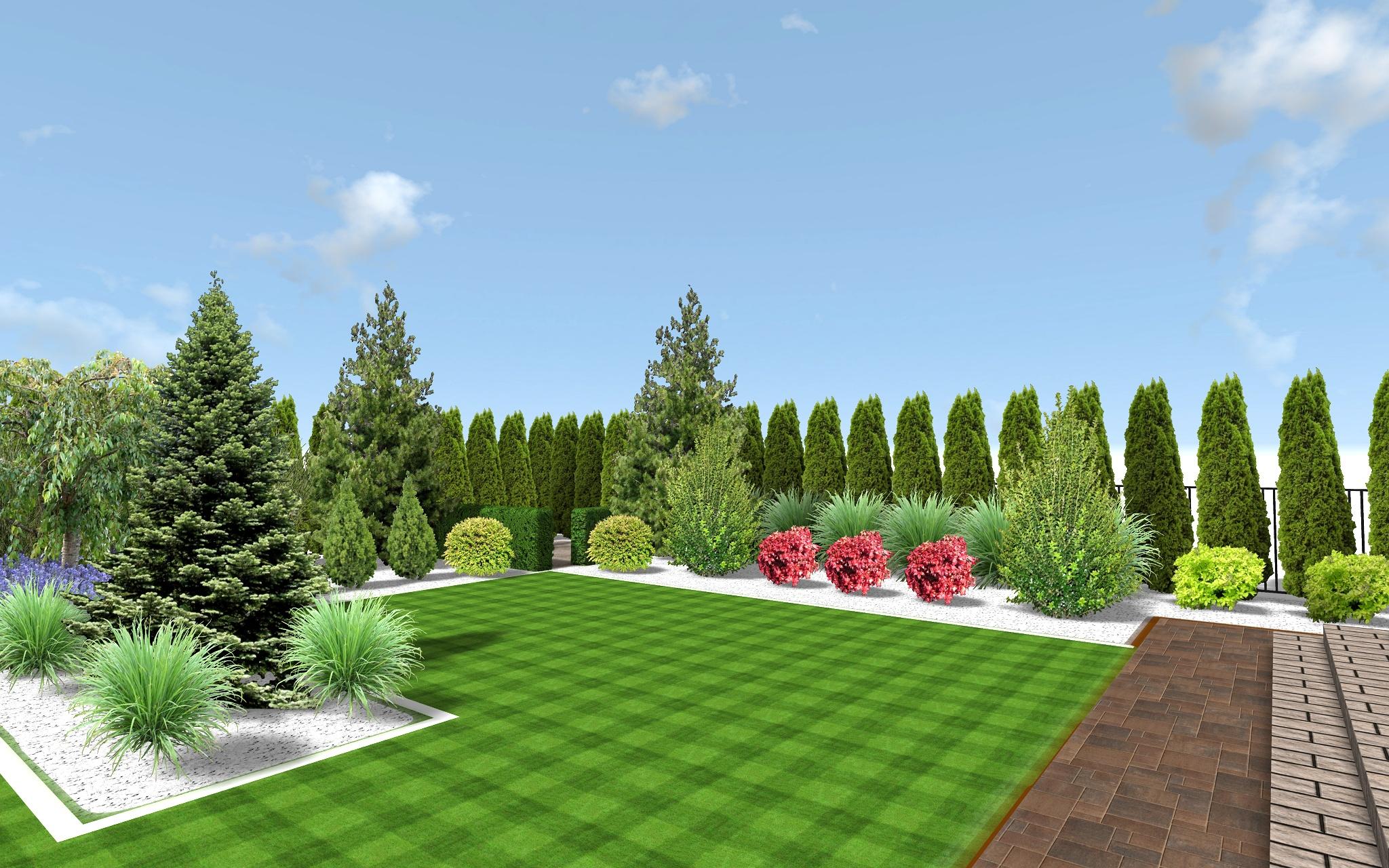 Wizualizacje 002 Garden Design Projektowanie Ogrod W